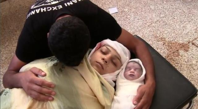 Martyr Fatima Mohammed Khosrof and her fetus martyr Abdul Majid Khalid Al Kassim